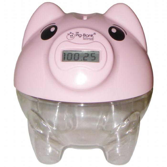 Cofre Pig-Bank Conta Moedas Porquinho Visor LCD Inbrasil