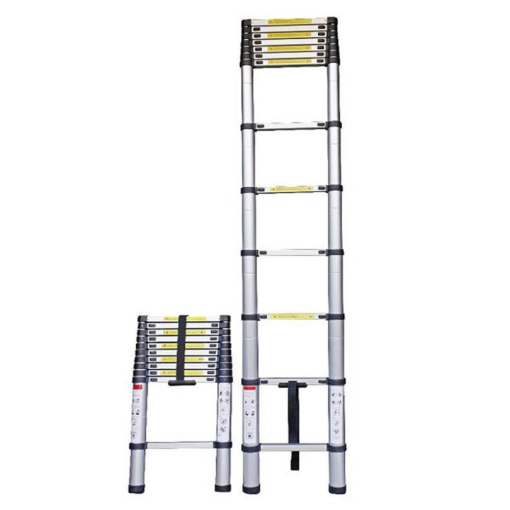 Escada telescopica de aluminio 3,20 metros 11 degraus CBR1106