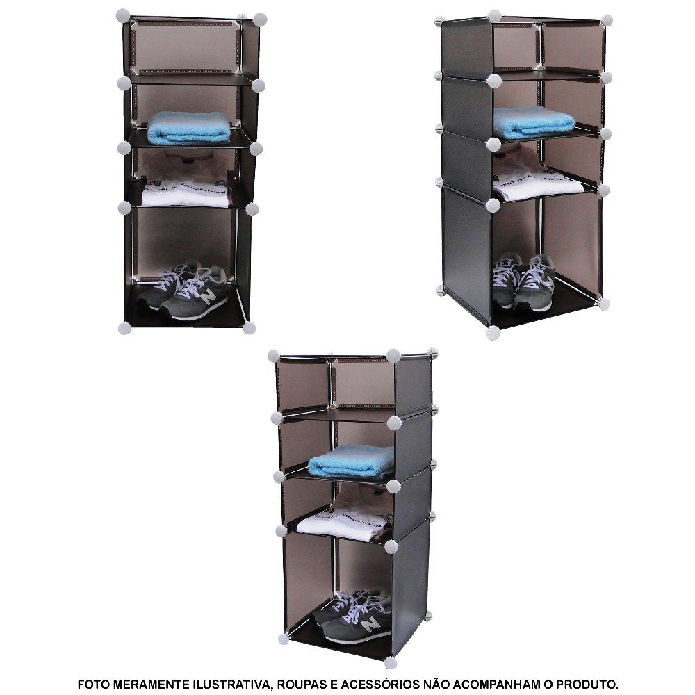 Estante Organizadora com 4 Compartimentos Colorida CBR-1023
