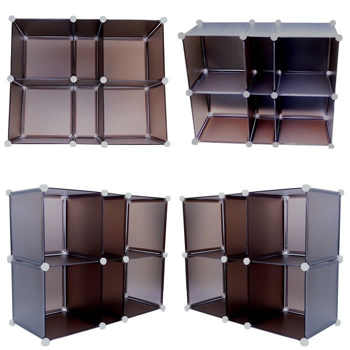 Estante Organizadora com 6 Compartimentos Colorido CBR-1022 - Y6026