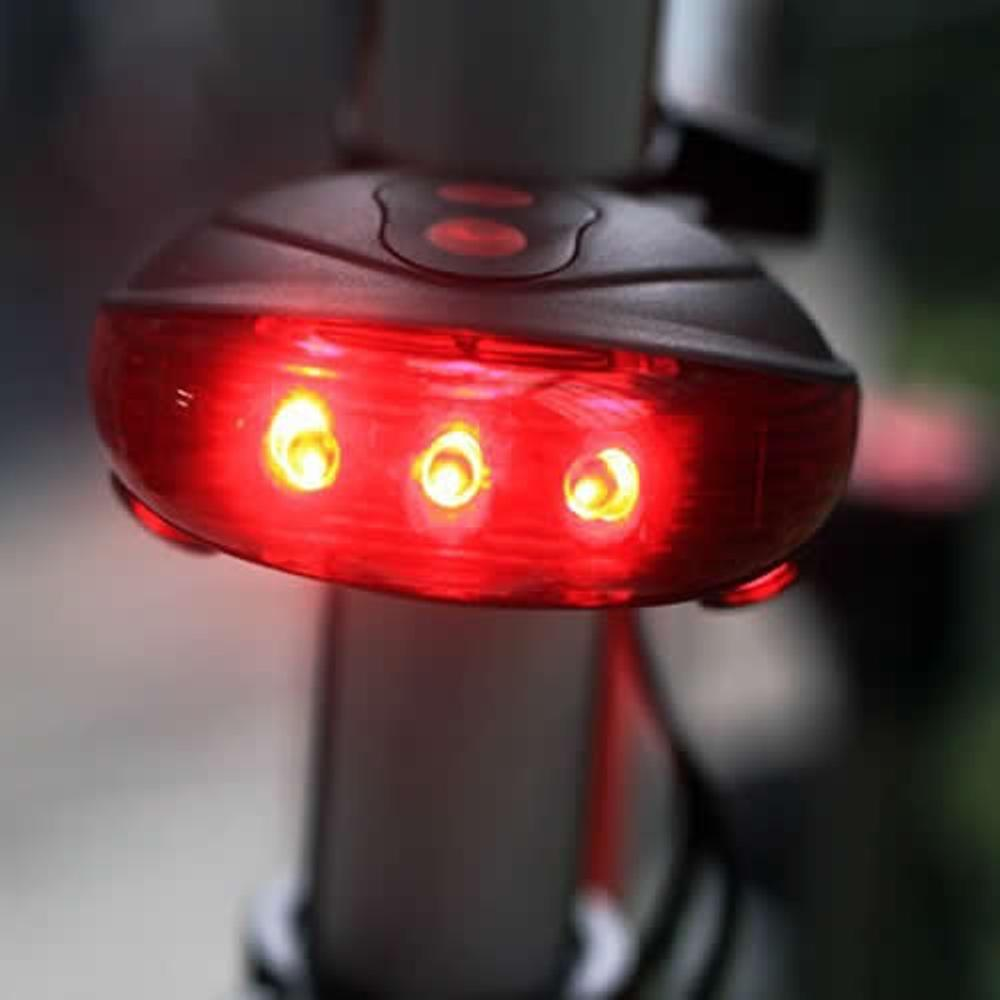 Farol Bicicleta Sinaleira Laser Tail 5 Leds Ciclovia Bike CBR1113/DS1969