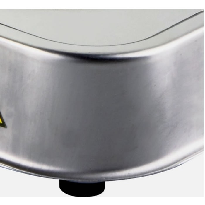 Fogão Elétrico 1 Boca Anti-Aderente Aço Inox 1000w VEC FE-205 110 VOLTS