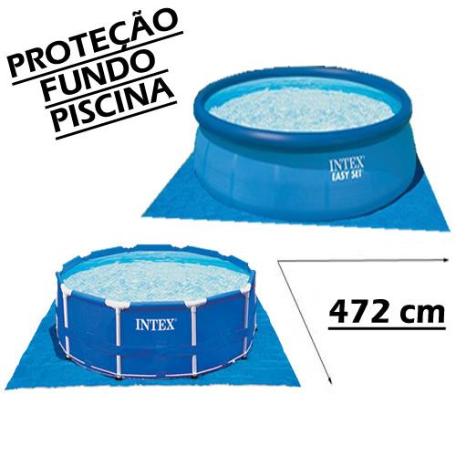 Forro Piso Proteção Fundo Piscina Inflável Estrutural Intex 58932 - 4,72 m x 4,72 m