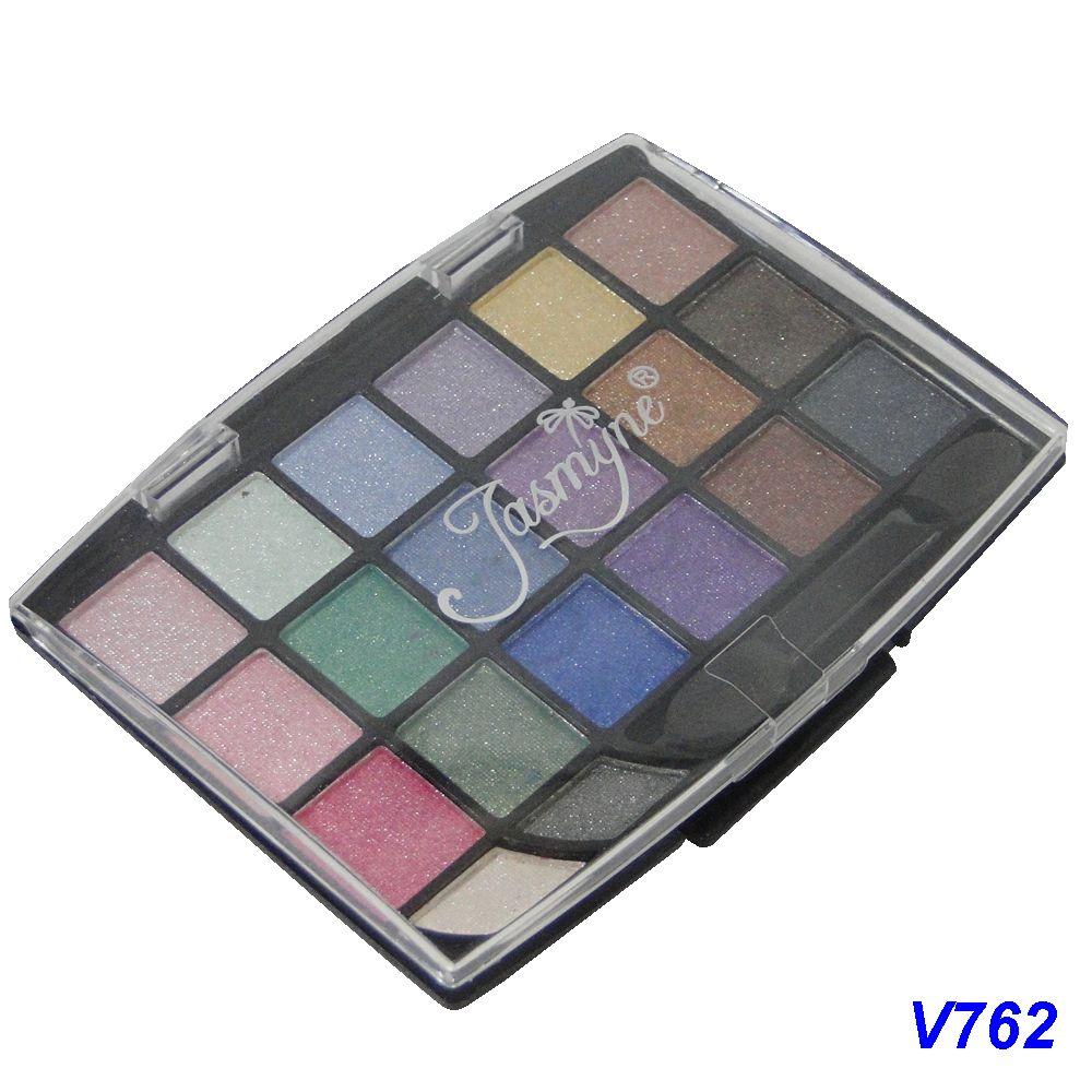 Kit Maquiagem 20 Sombras Brilhantes Jasmyne V762-A