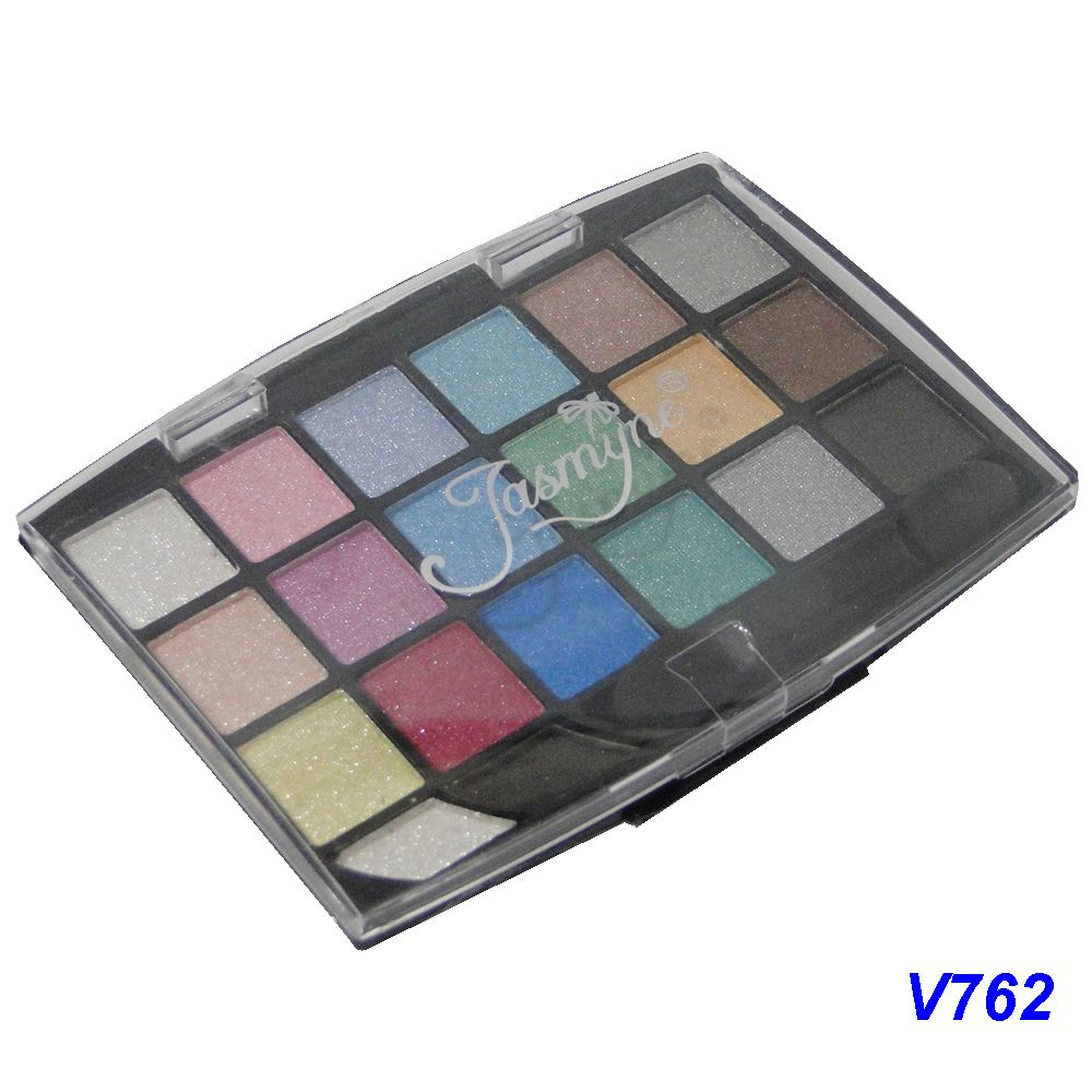 Kit Maquiagem 20 Sombras Brilhantes Jasmyne V762-C