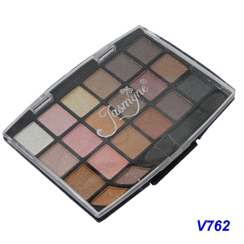 Kit Maquiagem 20 Sombras Brilhantes Jasmyne V762-D