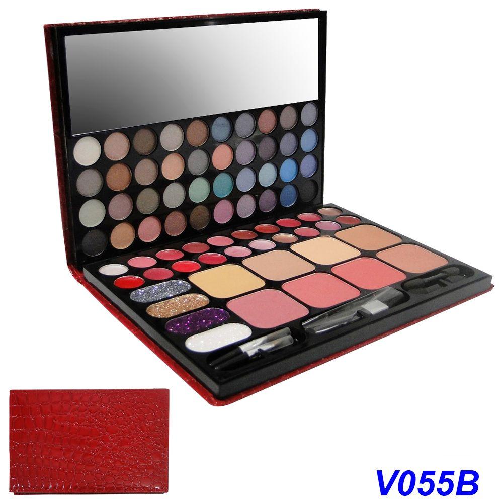 Kit Maquiagem Agenda Jasmyne V055B-A Vermelho