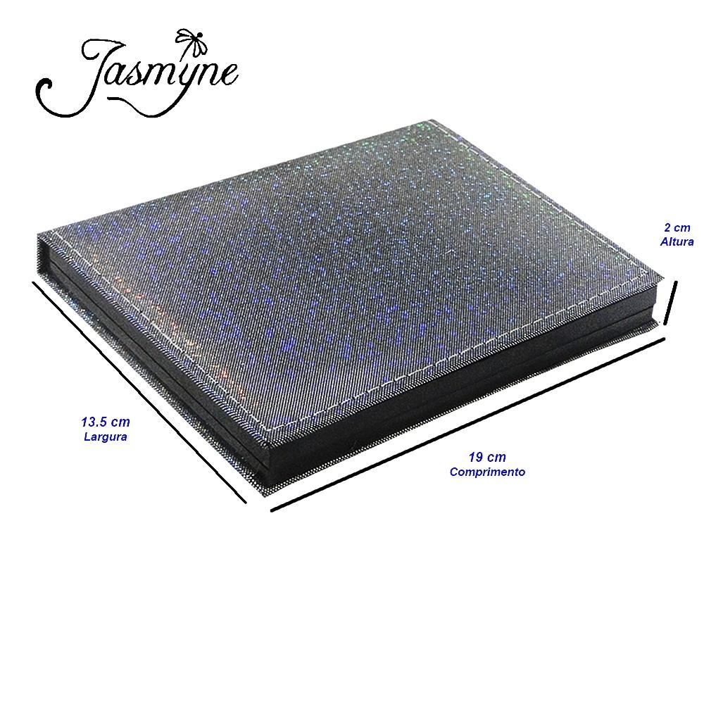 Kit Maquiagem Agenda Jasmyne V055C-C Prata Brilhante