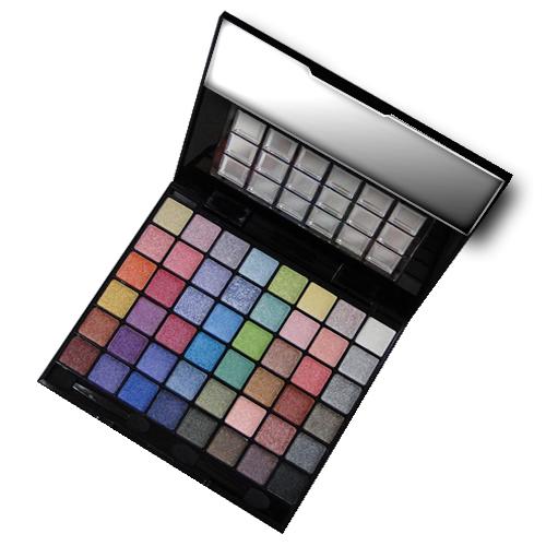 Kit Maquiagem Luisance 3D MA653 48 Sombras 2 Blush 2 Pó Facial 3 Batons 9 Sombras Cremosas