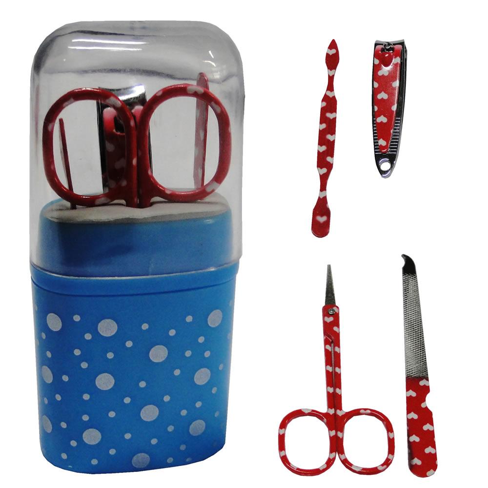 Kit para Manicure e Pedicure 5 Peças Decorado CBR1009
