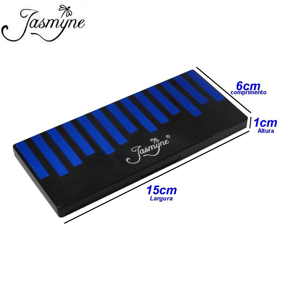 Kit Maquiagem Sombra Fosca Jasmyne V758-C Azul