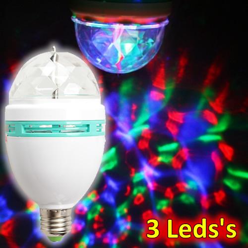 Lâmpada Giratória Led Strobo Colorido 3w Bivolt LY-399/SK-299A RGB