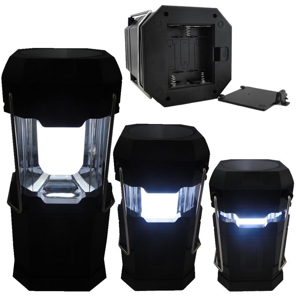 Lanterna lampião Camping a Pilhas 6 LEDS PRETO CBRN01262