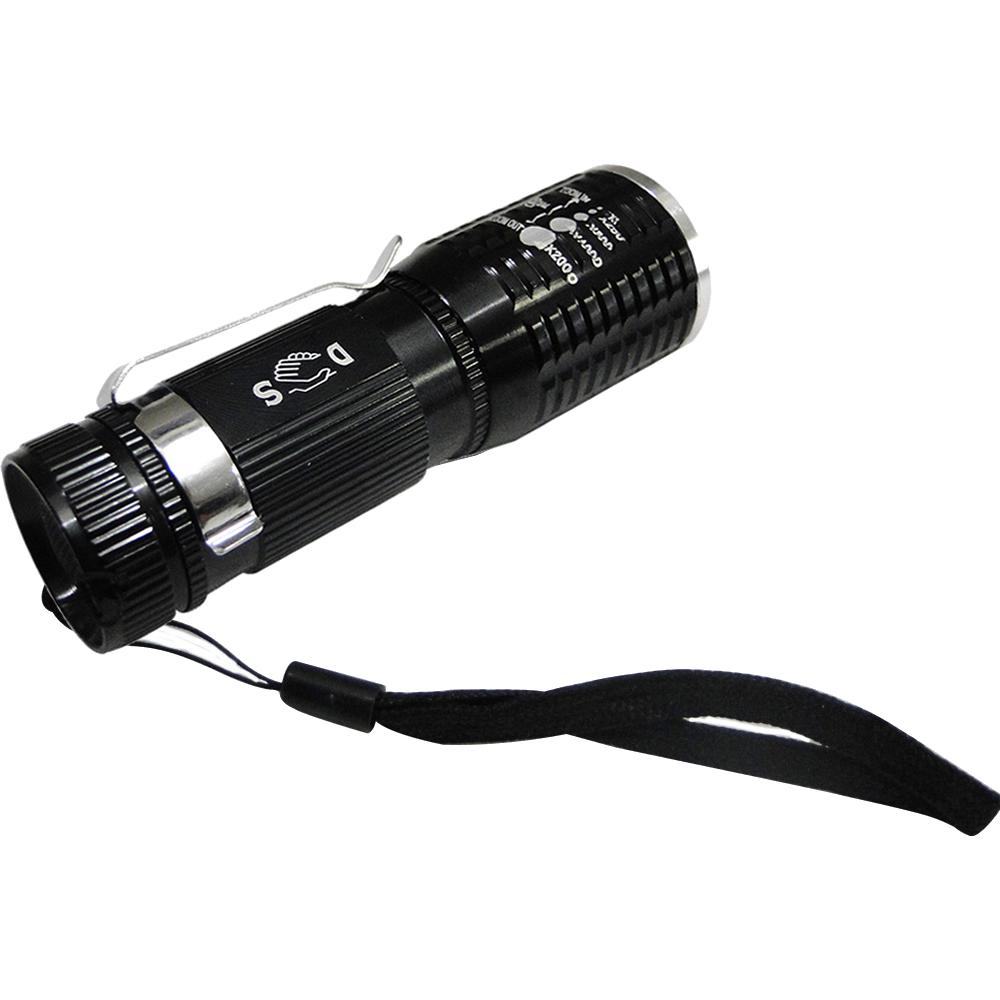 Lanterna Tática Policial Led Cree Pilhas 10cm DS-1716 Preto
