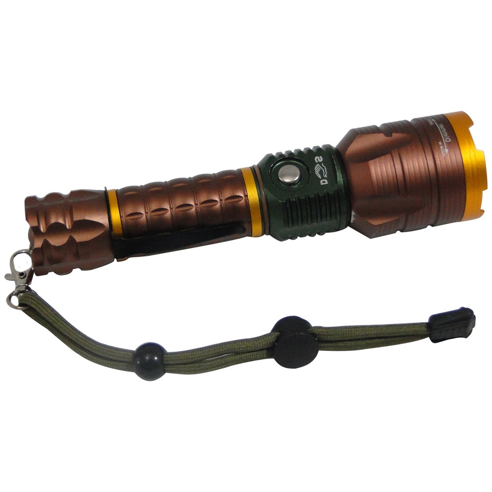 Lanterna Tática Policial Led Cree Recarregável DS-2168 Cobre