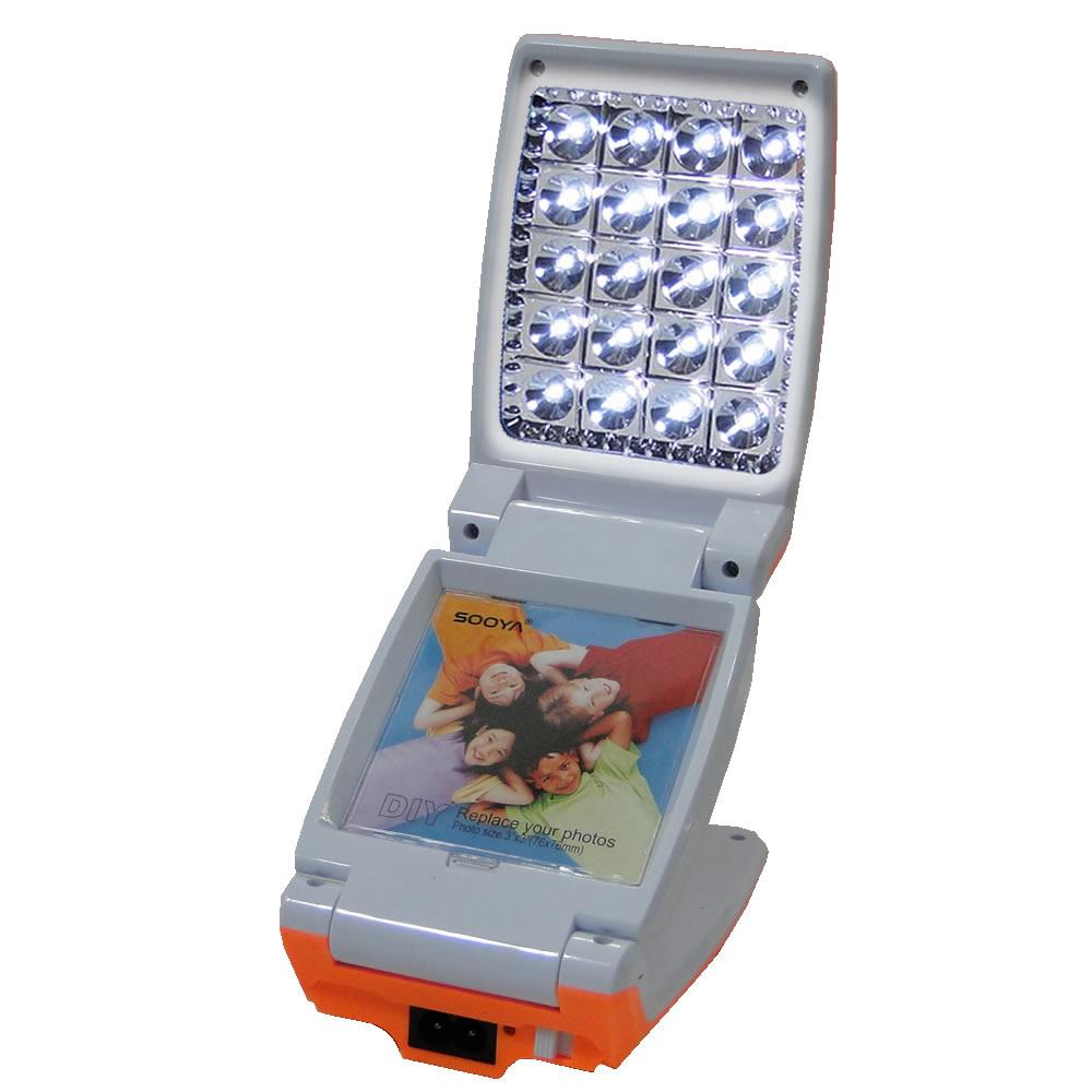 Luminária Abajur Articulado com Foto 20 Leds Recarregável Laranja WMTLL80388