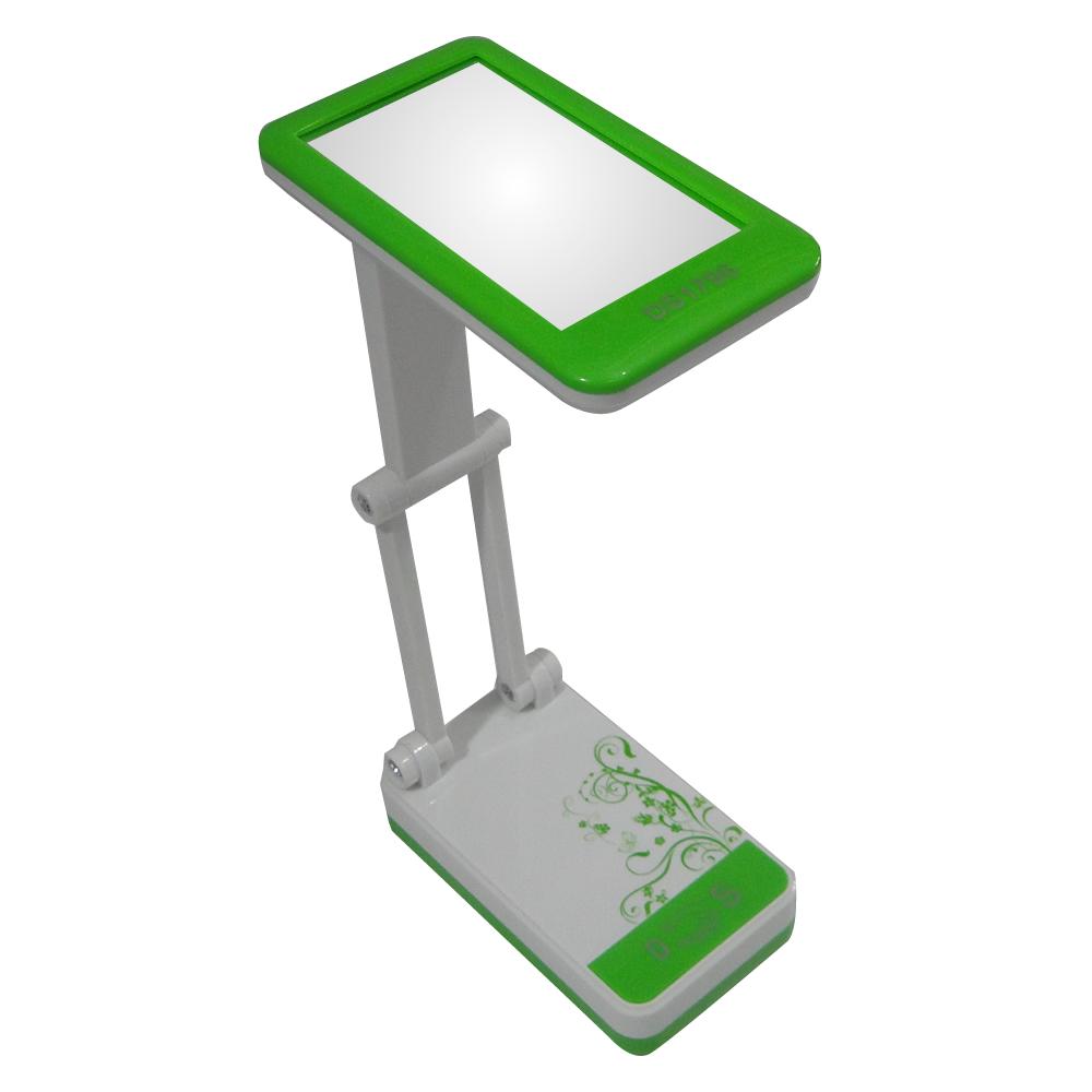Luminária de Mesa Articulada com Espelho 15 Leds  DS 1796 Verde