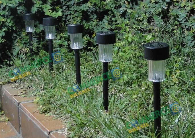 Luminária Solar Jardim 10 peças em PVC EC23201 - 1387