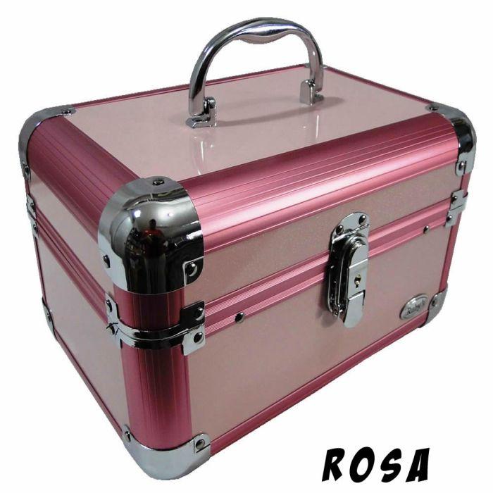 Maleta Maquiagem e Jóias Alumínio Rubys PTJ-1152H/FS-1152H + BRINDE