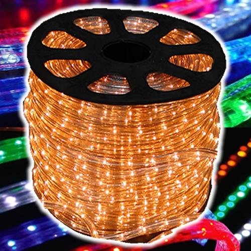 Mangueira Luminosa LÂMPADA Branco Cristal Amarelada Corda Natal Pisca Rolo 100mt - 110v - 1056