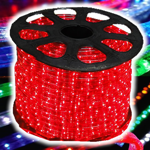 Mangueira Luminosa LÂMPADA Vermelho Corda Natal Pisca Rolo 100mt - 220v - 1089