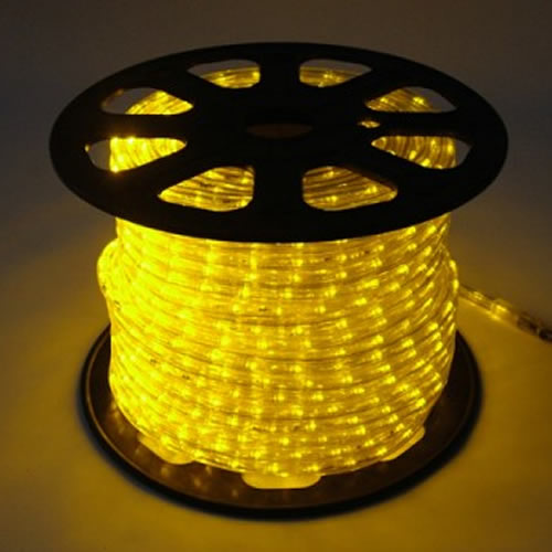 Mangueira Luminosa LED Amarelo Corda Natal Pisca Rolo 100mt 110v - 1095