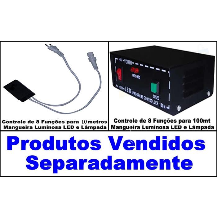 Mangueira Luminosa LED Azul Corda Natal Pisca Rolo 100mt 220v - 1097