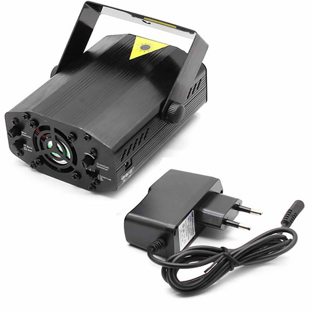 Mini Laser Stage Lighting Projetor Holográfico Tripé YX-6D Bi-volt XX