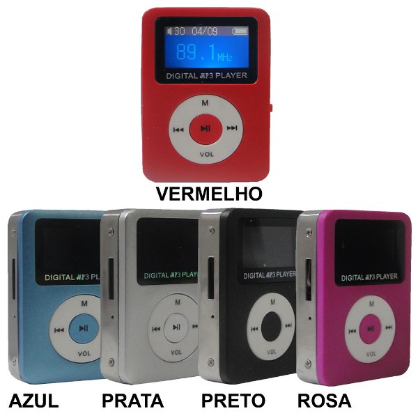 Mini Mp3 Player Visor Lcd Digital Radio FM Micro SD 4Gb - P02