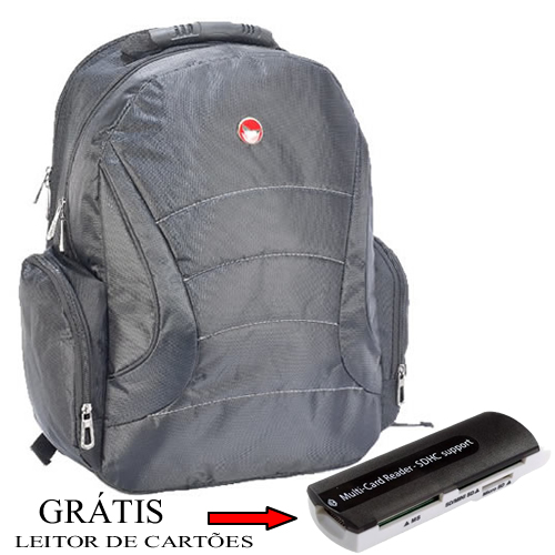 Mochila de Notebook Netbook Laptop 14´,5 Everstrong 648 - GRATIS leitor de cartoes de memoria