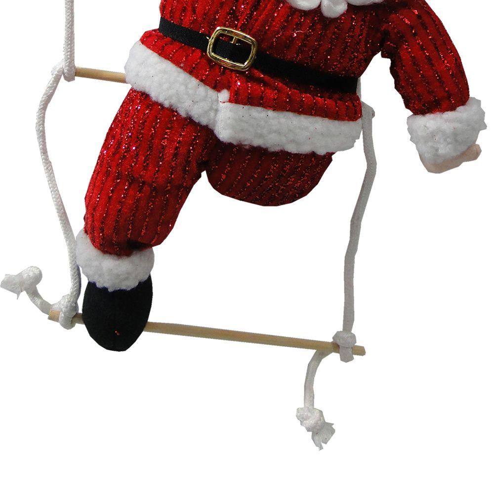 Papai Noel na Escada de Pendurar em Tecido 1401 45cm de Altura