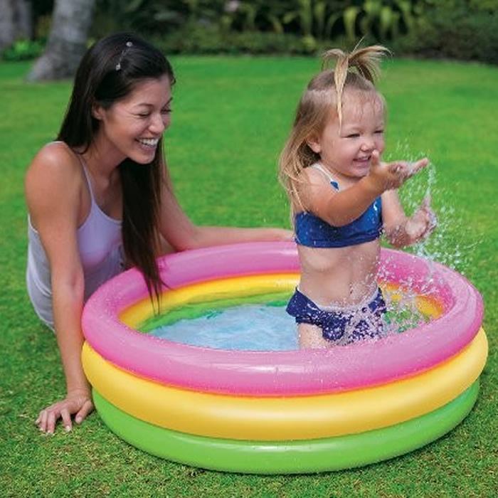 Piscina Inflável Infantil Baby Colorida Intex 58924  - Por do Sol 68 litros