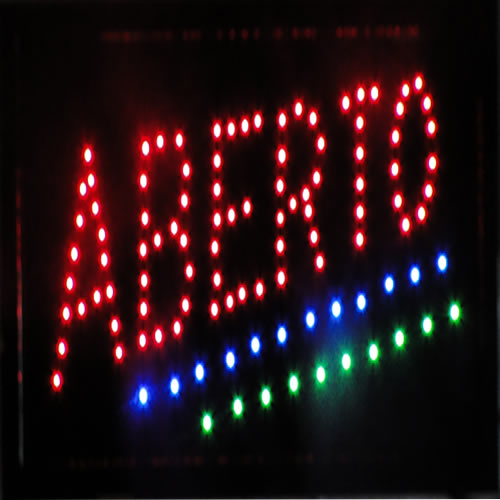 Letreiro luminoso de Led 110v Aberto 1609-1