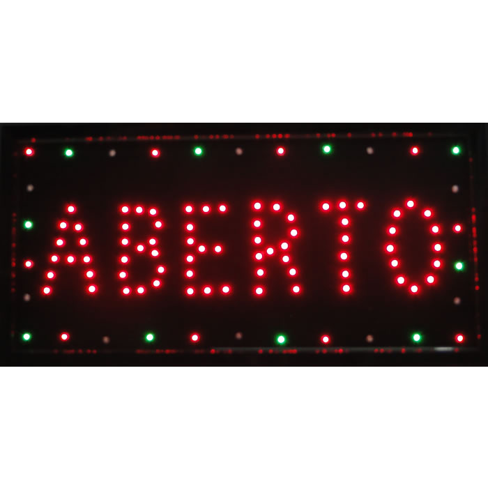Placa Led Quadro Letreiro Luminoso Decorativo Aberto cd 1609-2 - 110v