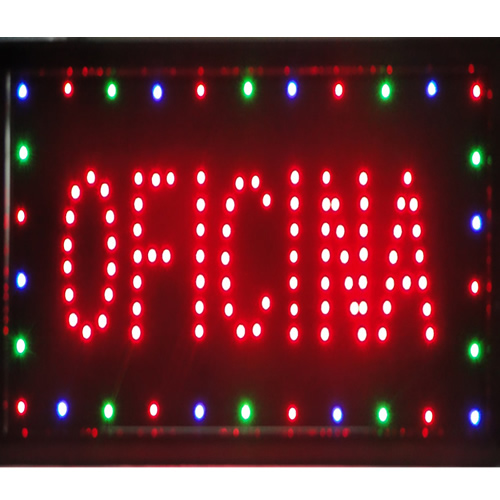 Placa Led Quadro Letreiro Luminoso Decorativo Oficina 1620