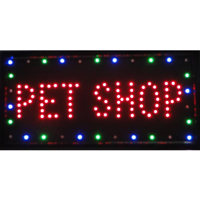 Placa Led Quadro Letreiro Luminoso Decorativo Pet Shop 1603