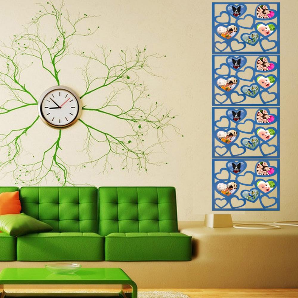 Porta Retrato de Parede Mural Painel PVC 20 Fotos CBR-1079 - Coracao