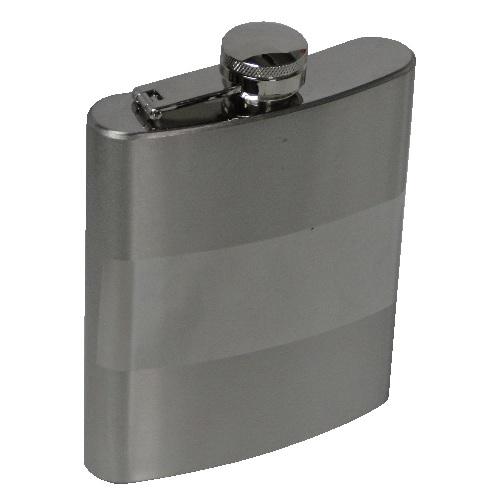 Porta Whisky Aço Inox Garrafa Bolso KB-202 Cantil 7OZ 210ml