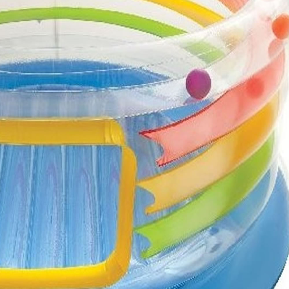 Pula Pula Inflável Multi Colorido Jump-o-Lene Intex 48264NP + bomba de inflar