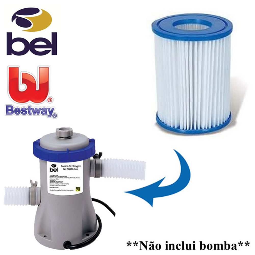 Refil para Bomba Filtrante Bel e Bestway 1093 220v 2unidades