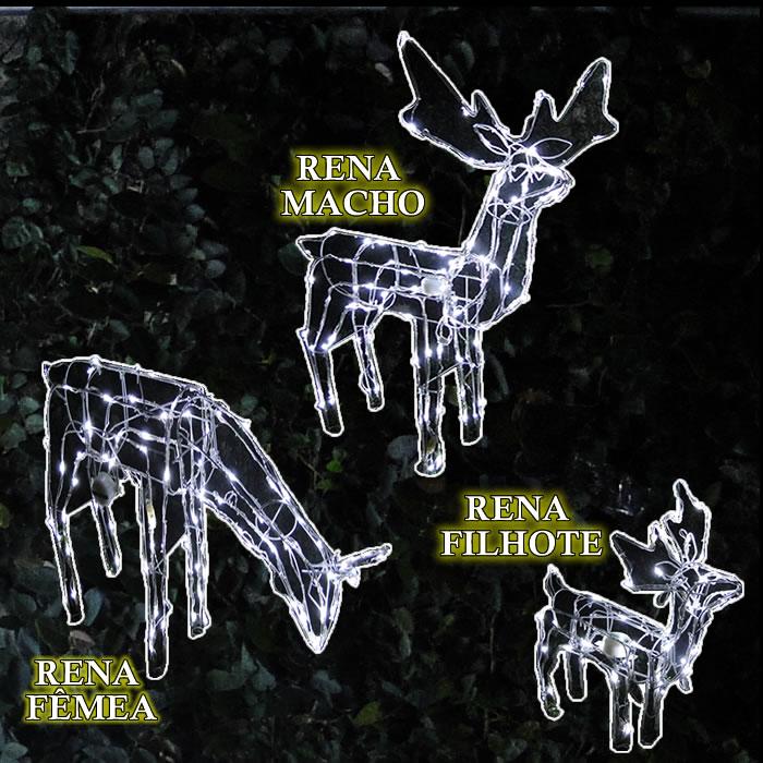 Rena Iluminada de natal Femea 100 Leds com Movimento 127v GL48LDMF-1 Decoração Natal