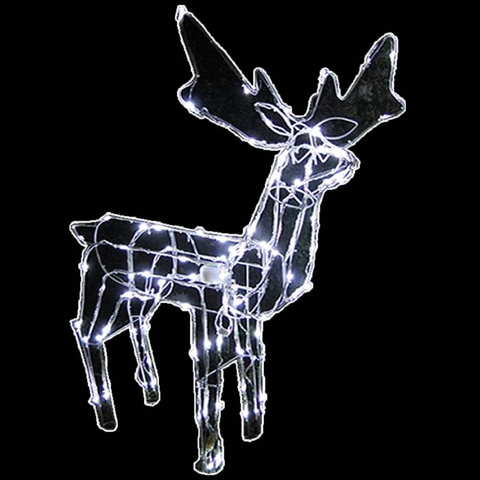 Rena Iluminada de natal Macho 100 Leds com Movimento 127v GL48LDMS-1 - Decoração Natal