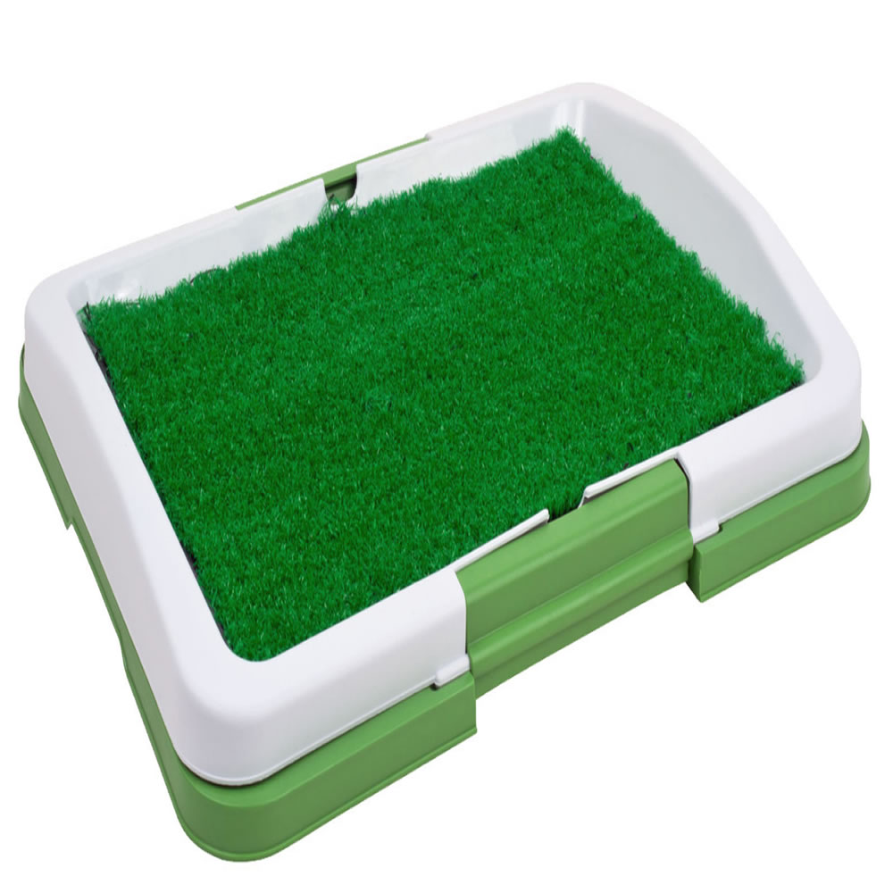 Sanitario para cães Puppy Potty Pad grama artificial CBR01119