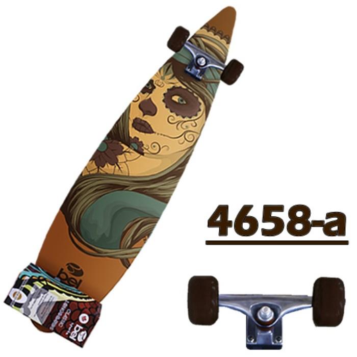 Skate Longboard Abec7 1,10m Truck Blindado rodas 42 mm 4658