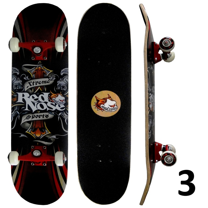 Skateboard Pró Street Radical Red Nose Rodas Gel Bel Sports 4022 Belfix