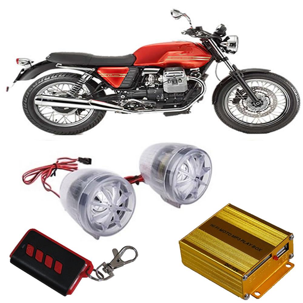 Som Mp3,Alarme,Rádio Fm Controle p/ Moto,Triciclo,Scooter MR-200