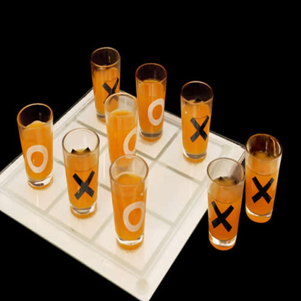 Tic-tac-toe Drink Game Jogo Da Velha Vidro Tabuleiro e Copos - CBR-1086