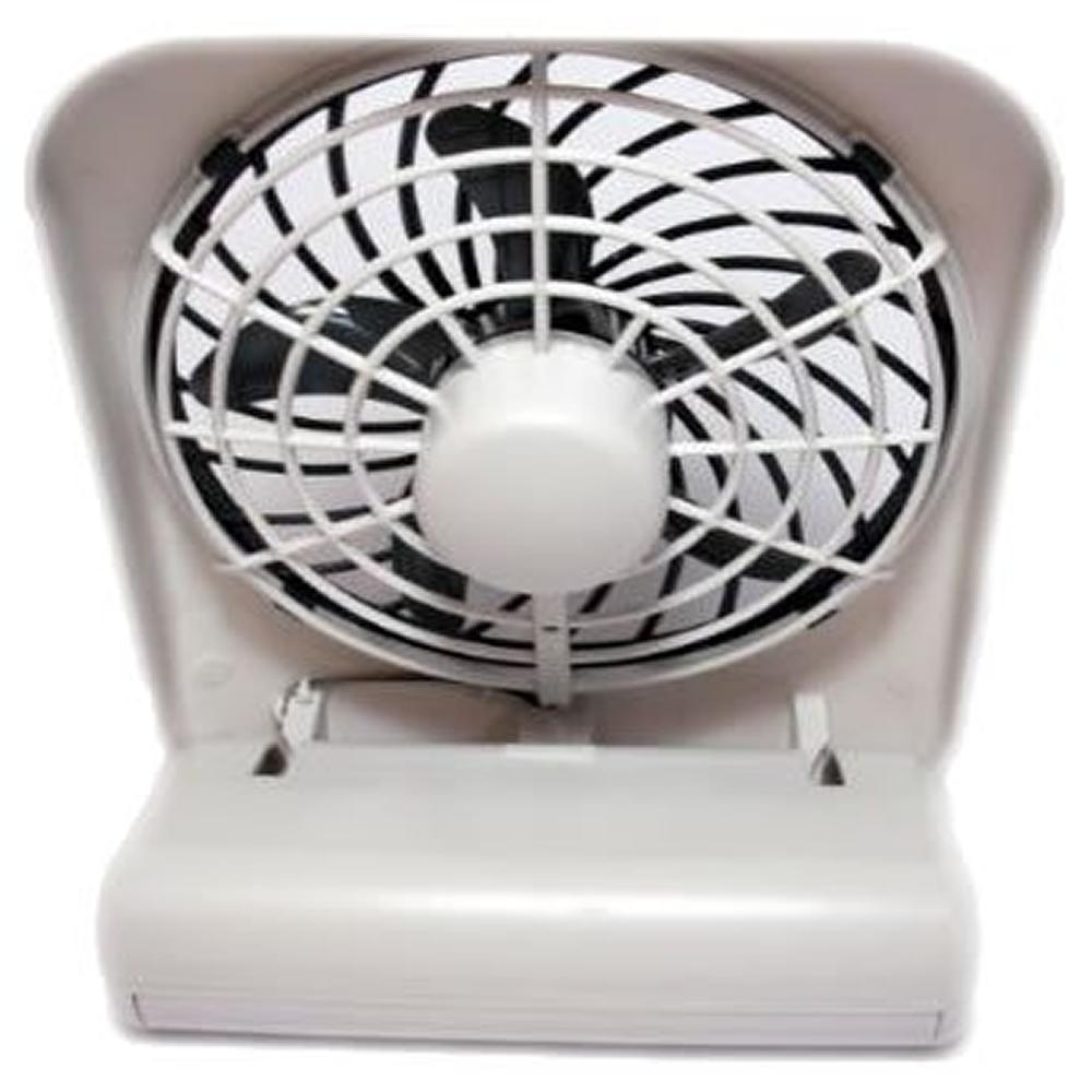 Ventilador portátil de mesa O2 Cool pilhas ou fonte 3v 2283 branco
