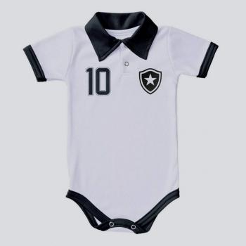 Body Botafogo Baby II Branco e Preto