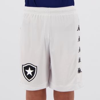 Calção Kappa Botafogo III 2019 Juvenil Branco